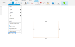 2 Press the self- aligning jig button in the sketch panel